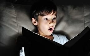 Картинка light, child, book, story, imagination, adventure