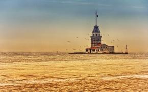 Картинка Турция, Девичья башня, Босфорский пролив, Maiden's Tower