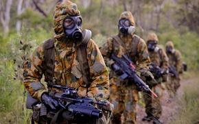 Картинка biohazard, warfare, chemical, Australian troops