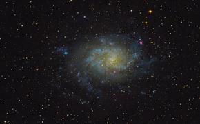 Картинка спиральная галактика, M 33, Треугольника, NGC 598