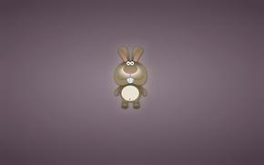 Обои минимализм, животное, заяц, зубастый, кролик, ушастый, rabbit