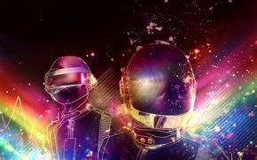 Обои electronic, стиль, music, Daft Punk, ретро