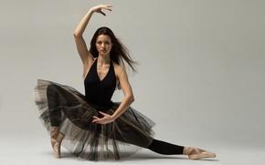 Картинка девушка, поза, балерина, пуанты