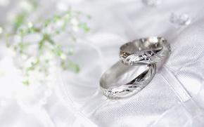 Обои макро, кольца, свадьба