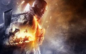 Обои Огни, Взгляд, Лошади, Военный, Винтовка, Electronic Arts, DICE, Экипировка, Оружия, Frostbite, Battlefield 1, Батлфилд 1, ...