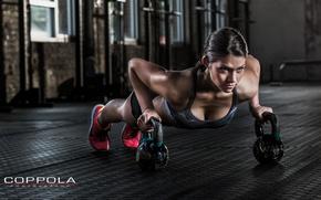 Обои workout, fitness, female, pushups