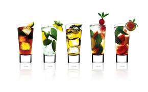 Обои Коктейли, напитки, стаканы, лед