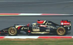 Картинка Formula 1, Lotus F1 team, E22, 18 дюймов, Charles Pic