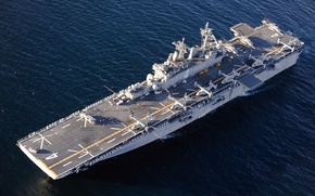 Картинка оружие, корабль, multipurpose amphibious assault ship, USS Boxer