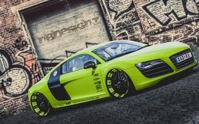 Картинка Audi, green, V10, XXX Performance, r8