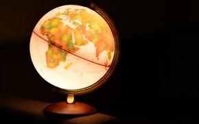 Картинка фон, светильник, глобус