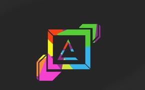 Картинка rainbow, cool, best, minimalizm, zero