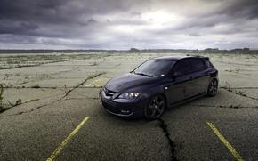 Картинка Mazda, black, tuning, мазда, 3 speed