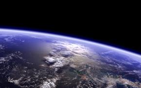Картинка планета, горизонт, tranquility