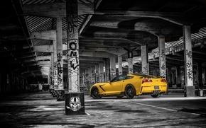 Обои ruffer performance, chevrolet, corvette, stingray, hpe700