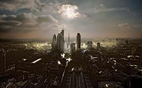 Картинка город, Лондон, дома