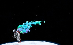 Картинка луна, скафандр, Космонавт