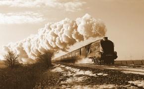 Картинка поезд, пароход, железная дорога