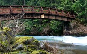 Картинка мост, река, Nature, river, bridge