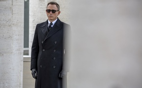 Картинка кадр, очки, перчатки, агент, пальто, Джеймс Бонд, Daniel Craig, 007, James Bond, Дэниэл Крэйг, 007: ...