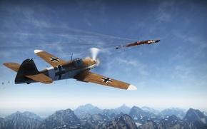 Картинка Германия, СССР, Messerschmitt, G-2, War Thunder, 109, Ер-2, trop