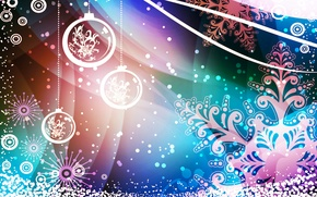 Картинка шарики, новый год, рождество