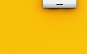 Обои wall, yellow, air conditioning