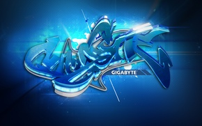 Обои стиль, Gigabyte, graffiti