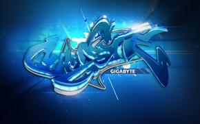 Картинка стиль, graffiti, Gigabyte