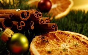 Обои звездочки, новый год, еда