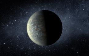 Картинка звёзды, туманности, экзопланета, лира, сверхземля, кеплер-20f