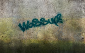 Картинка стена, надпись, граффити, подтеки, бетон, wassup