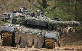 Картинка леопард, танк, leopard, бундесвер