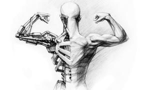 Картинка robot, android, schematics