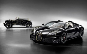 Картинка Bugatti, Veyron, Black, 2014, Bess