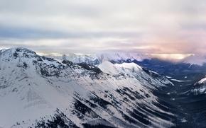 Картинка снег, горы, природа, Canada, British Columbia, Edgewater, Mount Assiniboine Provincial Park