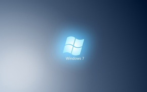 Картинка синий, минимализм, windows, голобуй