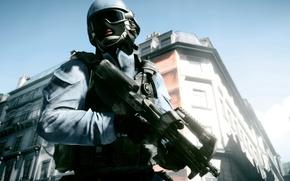 Картинка Париж, солдат, автомат, battlefield, game, винтовка, soldier, paris, поле битвы, battlefield 3, video game, amazing …