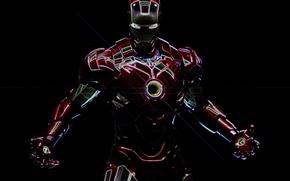 Картинка неон, железный человек, marvel, Iron man