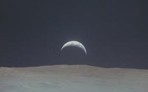Картинка земля, луна, earth, moon, apollo, аполлон