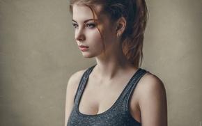 Картинка взгляд, девушка, лицо, модель, красивая, позирует, Irina, Maxim Guselnikov