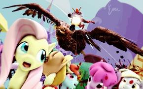Картинка орел, убийство, пулемет, deadpool, my little pony, pony