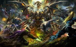 Картинка starcraft, diablo, warcraft, Zeratul, sarah kerrigan, Sylvanas, Tyrael, Heroes of the Storm, Archangel of Justice, …