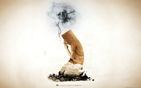 Обои поза, сигарета, вред, окурок