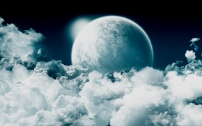 Обои небеса, космос, облака
