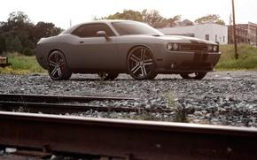 Обои Рельсы, Dodge, Щебень, Машины, Авто, Тюнинг, Challenger