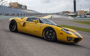 Картинка Ford, yellow, track, hre, gt
