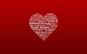 Картинка сердце, языки, слова, i love you