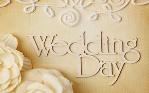 Картинка цветы, кольца, свадьба, flowers, background, day, ring, soft, wedding, lace