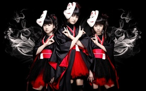 Картинка kawaii, music, metal, rock, flower, fox, model, pretty, singer, ninja, asian, pose, mask, Idol, death …